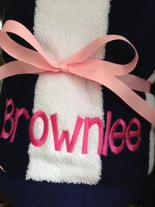 monogrammed beach towels, personalized beach towels
