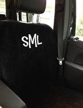 Monogrammed car seat cover.  Monogrammed seat cover.  Car accessories for athletes.