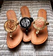 Monogrammed sandals with your choice of thread or font.