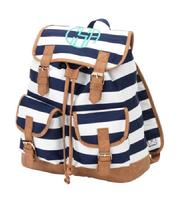 Rugby stripe backpack or tote