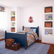 Anchor wood monogram in any color you choose.  Nautical accent for any room.