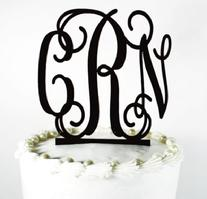 Monogram couples wedding cake topper, perfect for wedding, shower, birthdays etc.