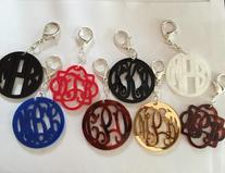 Key Ring or Key Chain with monogram.