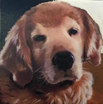 Custom hand painted pet portrait of your pet.  Acrylic on canvas