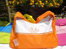 Monogrammed or personalized sport bags