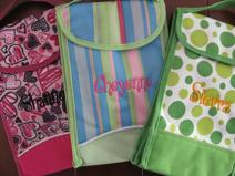 Insulated cooler, lunch box, personalized, monogrammed