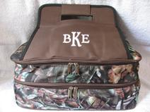 Insulated casserole tote, monogrammed or personalized for hot or cold food items.