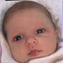 Custom acrylic painting on canvas of your little baby.