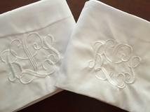 Monogrammed pillow cases are a perfect gift for couples.  Monogram traditional, LGBT or more.