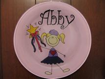 Hand painted, monogrammed or personalized plates for kids, newborns, bithdays etc.