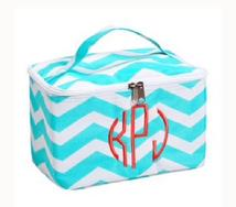 Monogrammed cosmetic bag or accessory bag.  Personalize with a name or monogram.