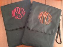 Monogrammed iPad cover. Personalized iPad cover.