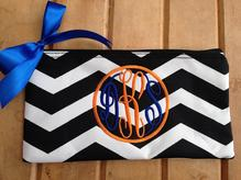 Cosmetic bag, personal bag monogramed with initials or name