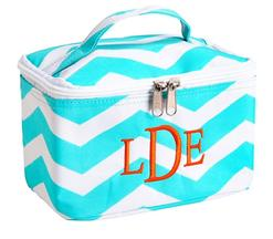 Monogrammed cosmetic square.  Personalize or monogram this great cosmetic bag or accessory bag.