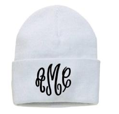 a2e4ee5d8b4 Monogrammed ski hat. Monogrammed beanie hat.