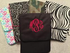 Monogrammed ipad covers!  Great for any age- full name or monogram in choice of thread colors.