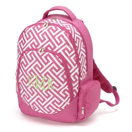 Monogrammed backpack for back to school