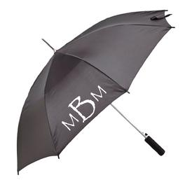 Monogrammed umbrella, full size, auto-open, monogram your name or initials on this beautiful black umbrella.