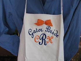 Monogram or personalize an apron for university or college, sorority or fraternity with monogram or greek letters.  create your own monogrammed apron