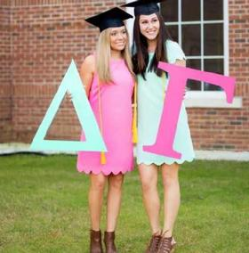 "Greek Sorority wood letters in two sizes 12"" or 22"", personalized in your color choice"