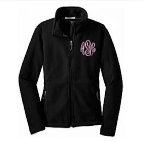 Monogrammed Full Zip Fleece Jacket, Personalized Fleece jacket