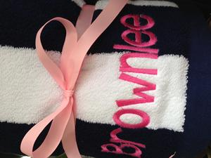 Monogrammed beach towel, personalized beach towel