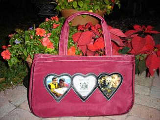 Valentine tote, embroidered at no charge.