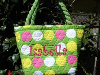 Insulated lunch purse is perfect for any event!  Personalized at no charge.