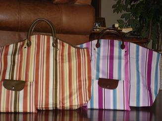 Personalized diaper bag and travel bag.
