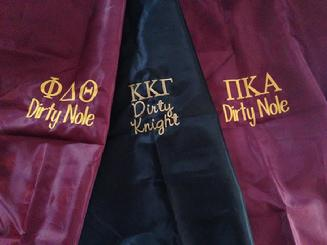 Sorority or Fraternity college laundry bag monogrammed or embroidered with greek letters!  Greek laundry bag with monogram
