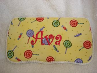 Monogramed travel wipe holders;  a perfect personalized gift for you or someone you love