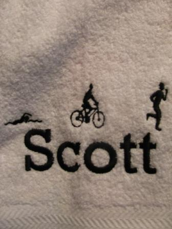Triathalon Towel, personalized gift for your favorite athlete.