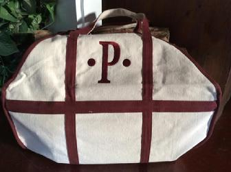 Mongorammed Log Tote or Personalized Log Carrier