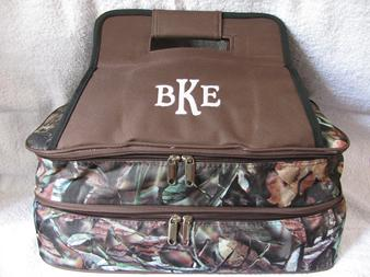 Double insulated casserole tote monogrammed or personalized for you or to give as a gift.
